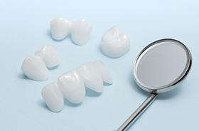 Dental bridge and crown restorations