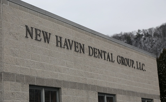New Haven Dental Group sign on building