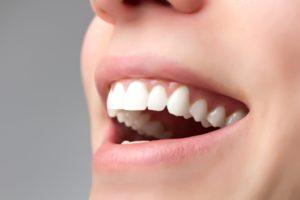 close-up of beautiful teeth